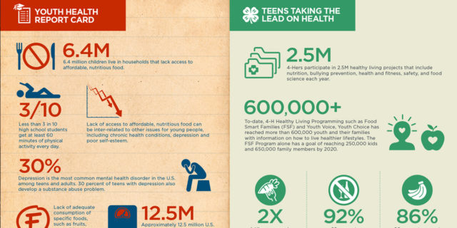4-H infographic - teens taking the lead on health