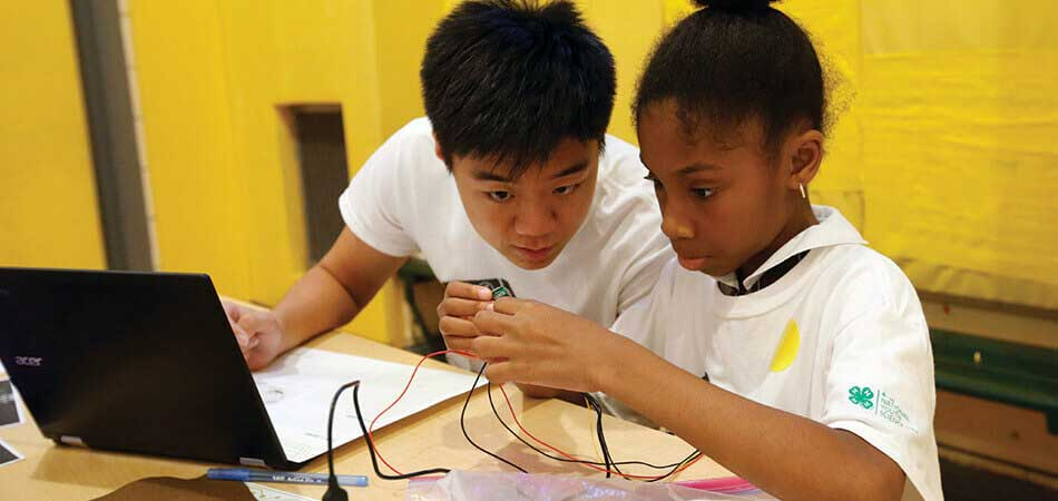 Boy and Girl STEM activity