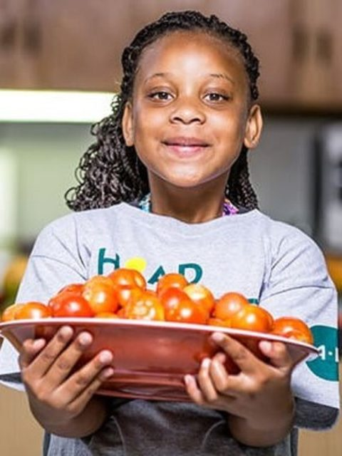 4-H girl cooking healthy good