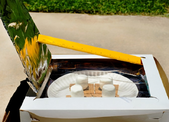 Solar oven s'mores activity