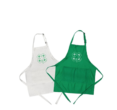 4-H clover aprons from Shop 4-H