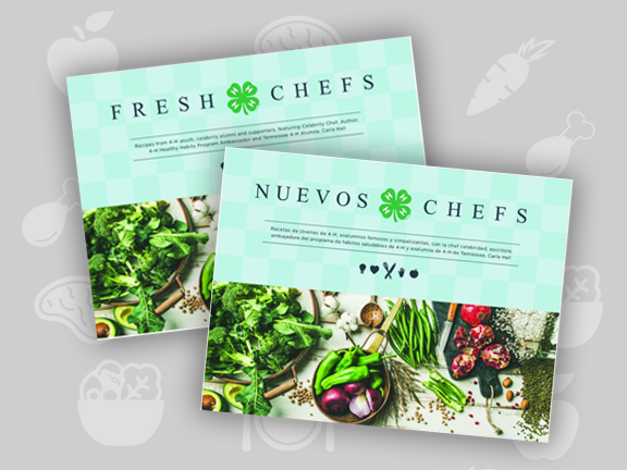 Fresh Chefs Cookbook cover images